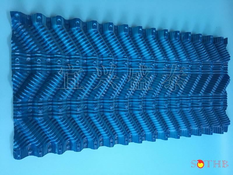 冷却效果好,主要用于工业逆流冷却塔,电厂双曲线水泥冷却塔.